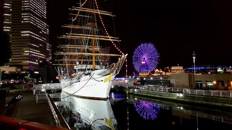 The Nippon Maru in Yokohama.